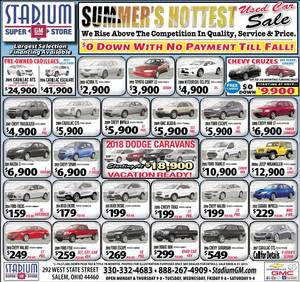 Stadium Chevrolet Buick Gmc Cadillac Inc 308 Total