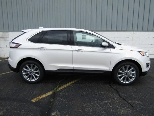 Ford Edge Titanium Awd White Platinum Metallic Tri Coat Warren Oh